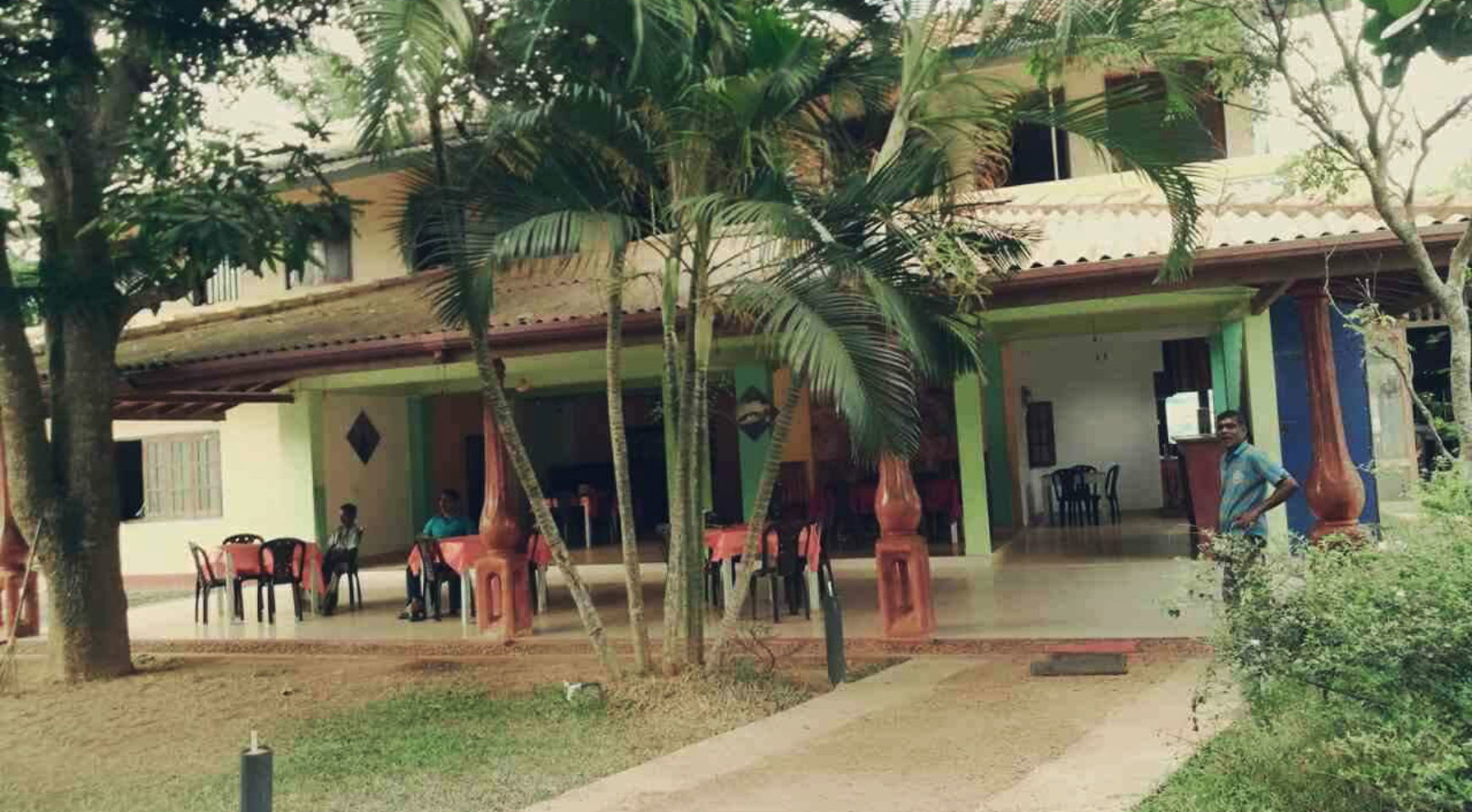 Guest house with restaurant and open bar for sale ceylon for Houses for sale with guest house on property