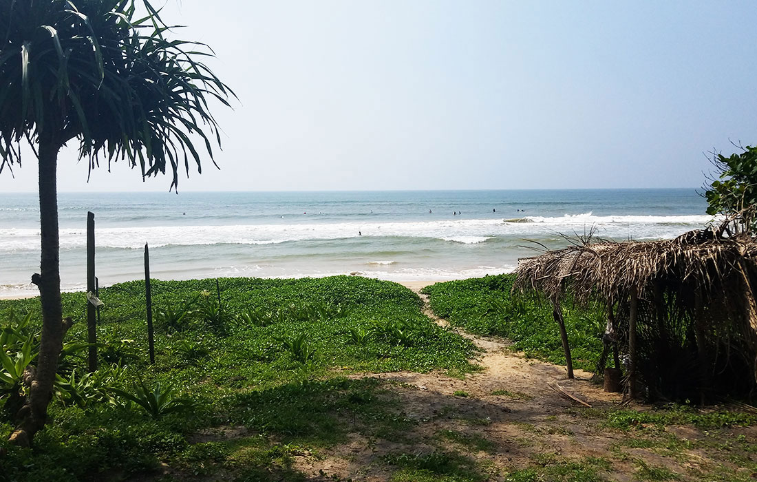 Beachfront land for sale with unusual 3 bedroom house