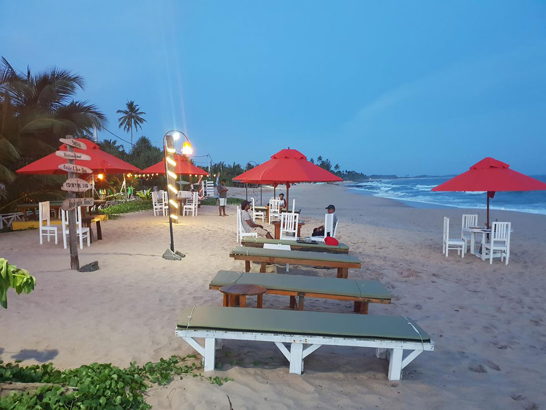 Busy hotel and restaurant for sale in Tangalle beach
